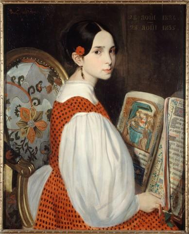 4 正在阅读的莱奥波尔蒂娜,1835年