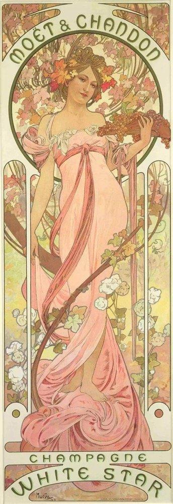 慕夏,酩悦白星香槟海报,1899年