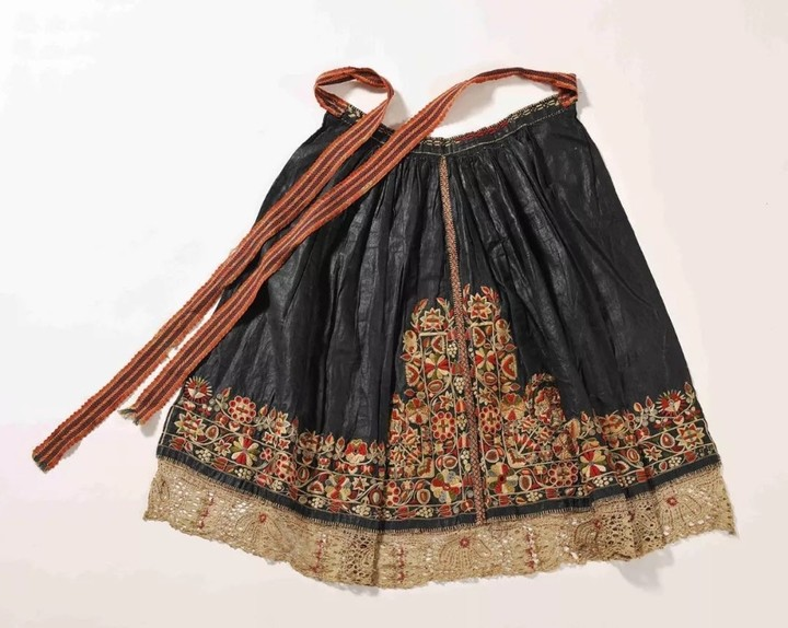 慕夏收藏品之摩拉维亚民族服装:围裙 19世纪90年代末至20世纪初